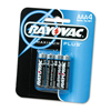 Rayovac High Energy Premium Alkaline Battery, AAA, 4/Pack RAY 8244K