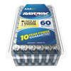 Rayovac Alkaline Battery, AAA, 60/Pack RAY 82460PPTK