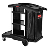 Janitorial Carts, Trucks, and Utility Carts: Rubbermaid® Commercial Executive High Capacity Janitorial Cleaning Cart