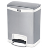 Rubbermaid Commercial Rubbermaid® Commercial Slim Jim® Stainless Steel Step-On Container RCP 1901990
