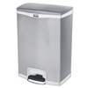 Rubbermaid Commercial Rubbermaid® Commercial Slim Jim® Stainless Steel Step-On Container RCP 1902004