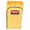 Rubbermaid Commercial Zippered Vinyl Cleaning Cart Bag, 24gal, 17 1/4w x 10 1/2d x 30 1/2h, Yellow RCP 1966719