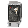 Janitorial Carts, Trucks, and Utility Carts: Rubbermaid® Commercial Zippered Vinyl Cleaning Cart Bag