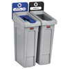 Rubbermaid Commercial Rubbermaid® Commercial Slim Jim Recycling Station Kit RCP2007914