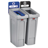 Rubbermaid Commercial Rubbermaid® Commercial Slim Jim Recycling Station Kit RCP2007915