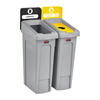 Rubbermaid Commercial Rubbermaid® Commercial Slim Jim Recycling Station Kit RCP 2007916