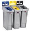 Rubbermaid Commercial Rubbermaid® Commercial Slim Jim Recycling Station Kit RCP 2007917