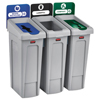 Rubbermaid Commercial Rubbermaid® Commercial Slim Jim Recycling Station Kit RCP 2007918