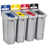 Rubbermaid Commercial Rubbermaid® Commercial Slim Jim Recycling Station Kit RCP 2007919