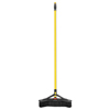 Rubbermaid Commercial Maximizer Push-to-Center Broom, 18, PVC Bristles, Yellow/Black RCP 2018729