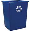 Rubbermaid Commercial Glutton® Recycling Container RCP 256B-73 BLU