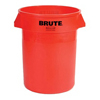 trash receptacle: Brute® Round Containers, Red