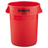 Rubbermaid Commercial Round Brute® Container RCP 2632 RED