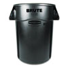 Rubbermaid Commercial Rubbermaid® Commercial Vented Round Brute® Container RCP 264360BK