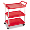 utility carts, trucks and ladders: Three-Shelf Service Cart