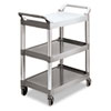 Janitorial Carts, Trucks, and Utility Carts: Rubbermaid Commercial® Three-Shelf Service Cart