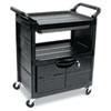 Janitorial Carts, Trucks, and Utility Carts: Rubbermaid Commercial® Utility Cart with Locking Doors