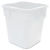 Rubbermaid Commercial Square Brute® Container White RCP 3536 WHI