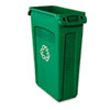 Rubbermaid Commercial Rubbermaid® Commercial Slim Jim® Plastic Recycling Container with Venting Channels RCP 354007GN