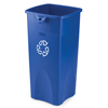 Rubbermaid Commercial Untouchable® Square Recycling Container RCP3569-73BLU