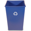 Rubbermaid Commercial Square Recycling Container RCP 3958-73 BLU