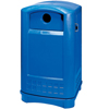 Rubbermaid Commercial Plaza® Recycling Container RCP 3968-73 BLU