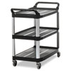 Rubbermaid Commercial Rubbermaid® Commercial Open Sided Utility Cart RCP 409100BLA