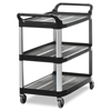 Rubbermaid Commercial Open Sided Utility Cart RCP4091BLA