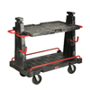 Rubbermaid Commercial Convertible A-Frame Panel Truck RCP 4465 BLA