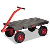 Rubbermaid Commercial Fifth-Wheel Wagon Truck RCP 4477 BLA