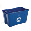 Rubbermaid Commercial Stacking Recycle Bin RCP5718-73BLU