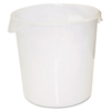 Rubbermaid Commercial Round Storage Containers RCP 5728WHI