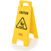 Rubbermaid Commercial Multilingual Caution Floor Sign RCP 6112 YEL