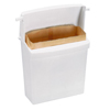 Rubbermaid Commercial Sanitary Napkin Receptacle with Rigid Liner RCP6140WHI