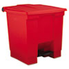 Rubbermaid Commercial Indoor Utility Step-On Waste Container RCP6143RED