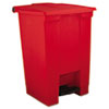 Rubbermaid Commercial Indoor Utility Step-On Waste Container RCP 6144 RED