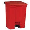 Rubbermaid Commercial Indoor Utility Step-On Waste Container RCP6145RED