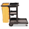 Rubbermaid Commercial Rubbermaid® Commercial Multi-Shelf Cleaning Cart RCP617388BK