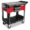 utility carts, trucks and ladders: Two-Shelf Trades Cart