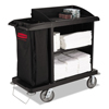 Janitorial Carts, Trucks, and Utility Carts: Multi-Shelf Cleaning Cart