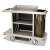 Rubbermaid Commercial Full-Size Housekeeping Cart RCP 6189 PLA