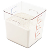 Rubbermaid Commercial SpaceSaver Square Containers RCP 6308 CLE