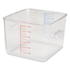Rubbermaid Commercial SpaceSaver Square Containers RCP 6312CLE