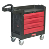 Rubbermaid Commercial TradeMaster™ Cart with 4 Drawer Cart RCP 640-4513-88-BLA