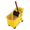 Rubbermaid Commercial Tandem™ 31-Quart Bucket/Wringer Combo RCP7380YEL