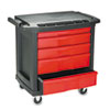 utility carts, trucks and ladders: Rubbermaid® Commercial Five-Drawer Mobile Workcenter
