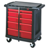 Rubbermaid Commercial Five-Drawer Mobile Workcenter RCP 7734 BLA