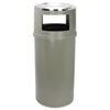 waste receptacle and can liners: Ash/Trash Classic Container without Doors
