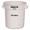 Rubbermaid Commercial Brute® Ice-Only Container RCP 9F86 WHI