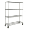 Rubbermaid Commercial Mobile Shelving Rack for ProSave Shelf Ingredient Bins RCP 9G80 CHR